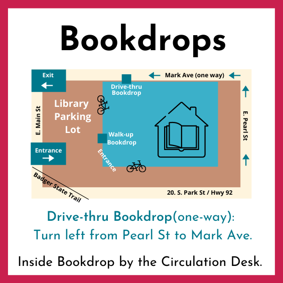 Library Bookdrop Map