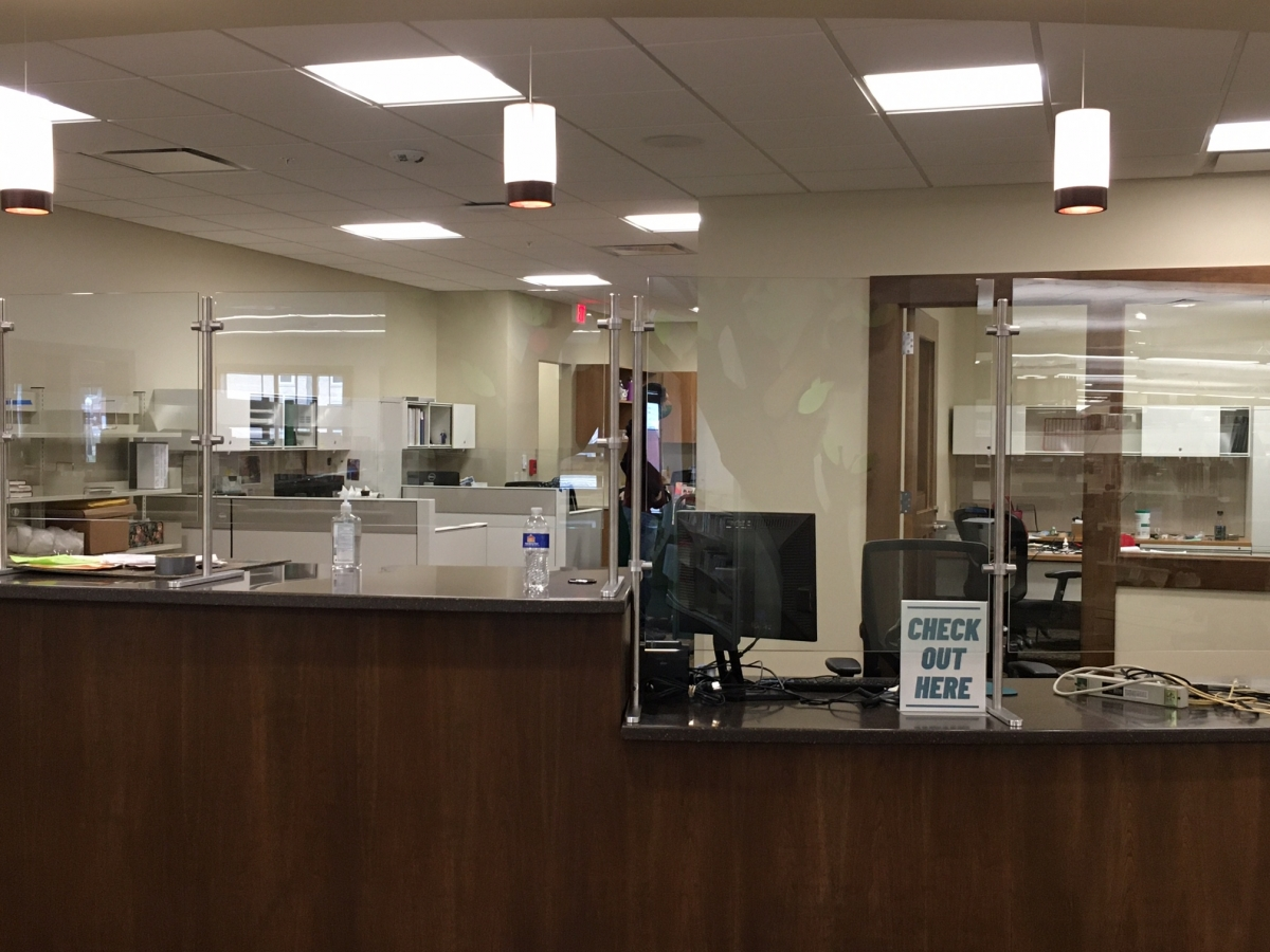 Circulation Desk and Staff Area