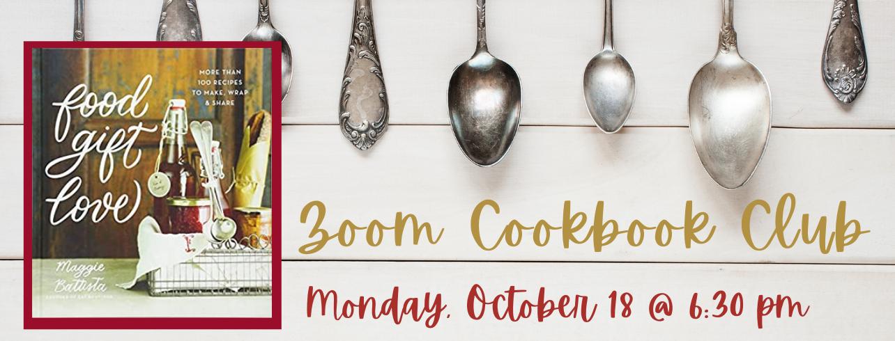 Virtual Cookbook Club Monday, October 18 at 6:30 pm via Zoom