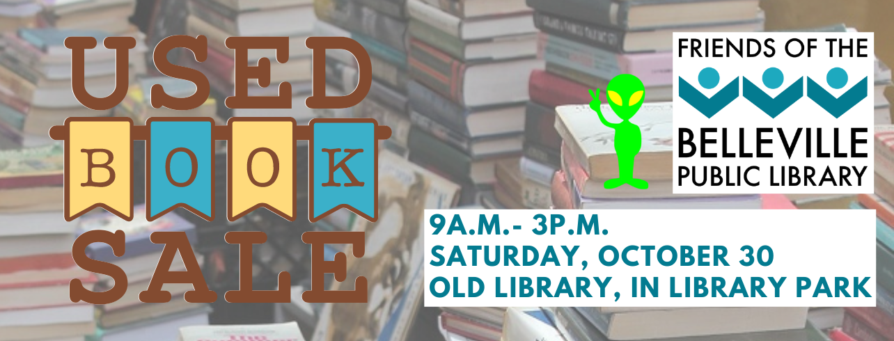 Fall booksale, Saturday October 30 from 9 am to 3 pm inside Old Library in Library Park