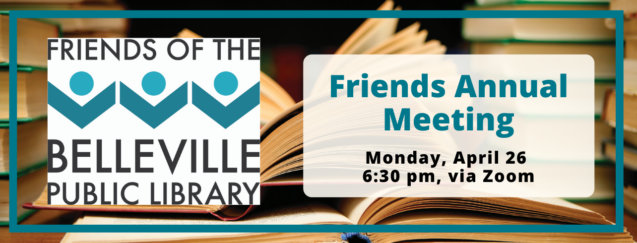 Friends Annual Meeting, Monday April 26 at 6:30 via Zoom