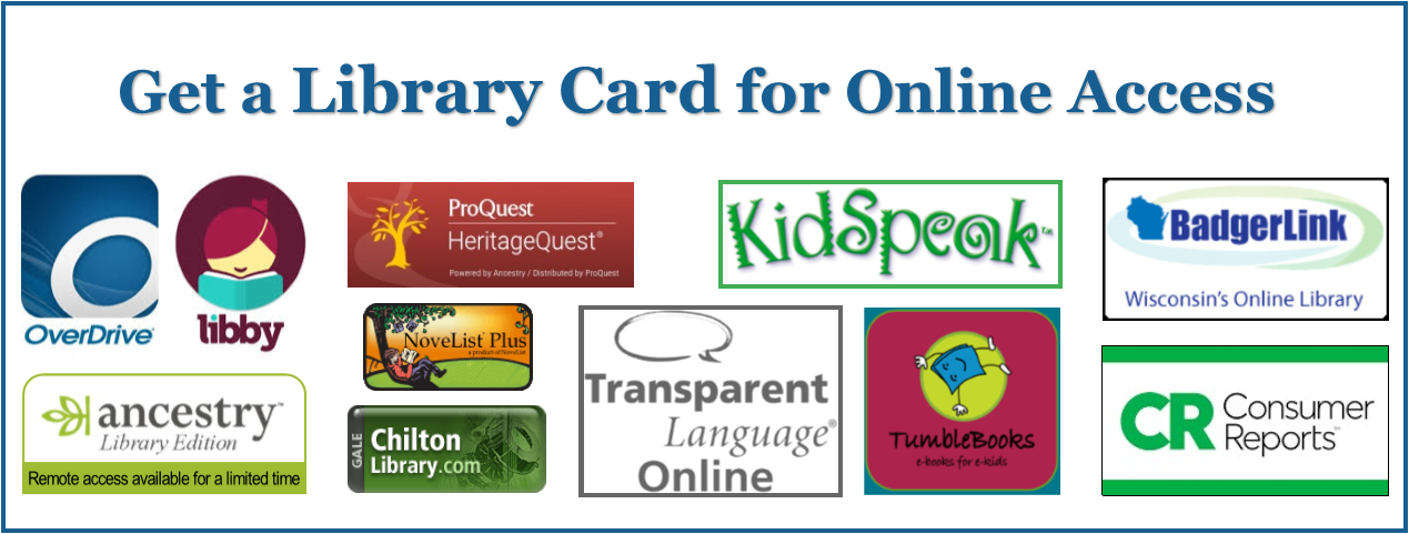Get a Library Card for Online Access