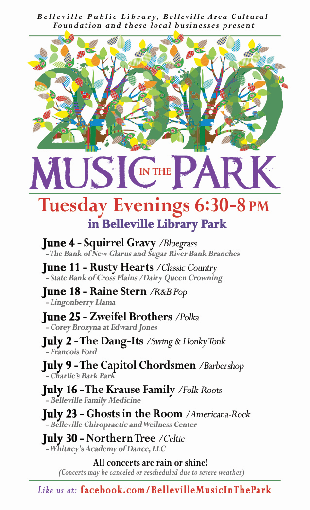 Belleville's Music in the Park lineup 2019