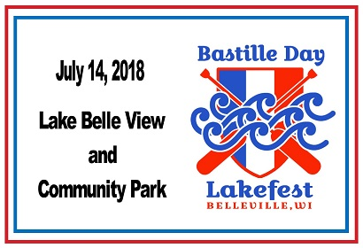 Bastille Day Lakefest Saturday, July 14 at Lake Belle View and Community Park