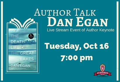 Great Lakes Author Talk Live-Stream event Tuesday, October 16, 2018 7:00 PM