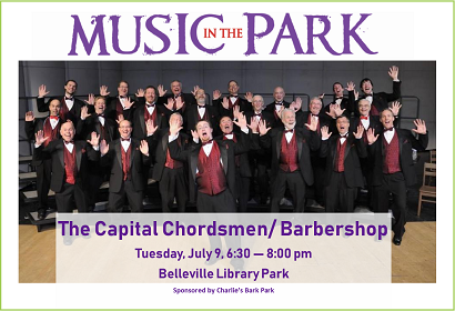 Capital Chordsmen MITP July 9, 2019 at 6:30 pm, Library Park