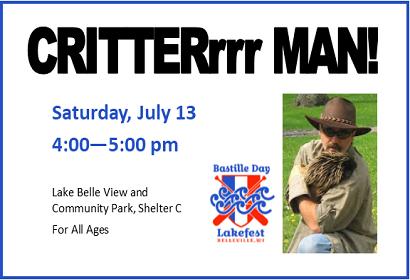 Critterman at Bastille Lakefest, July 13, 2019 at 4:00 pm, Shelter C