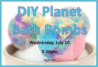 DIY Planet Bath Bombs, Wednesday, July 10, 2019 at 3:30 pm