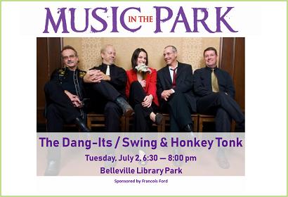 The Dang-Its MITP July 2, 2019 at 6:30 pm, Library Park