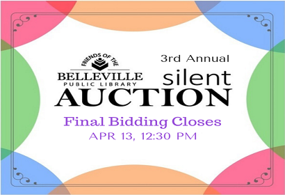 Friends Silent Auction Closes April 13, 12:30 pm at the Library