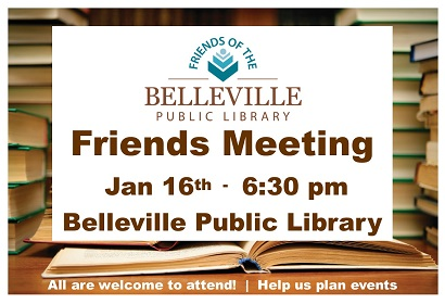 Friends Meeting January 16 at 6:30 pm