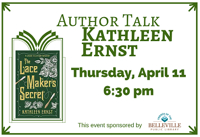 Author Talk with Kathleen Ernst Thursday, April 11, 2019 at 6:30 pm