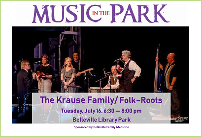 Krause Family Band MITP July 16, 2019 at 6:30 pm, Library Park