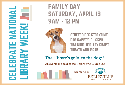 Family Day activities Saturday, April 13 from 9: 00 am to 12:30 pm