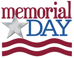 Closed for Memorial Day, May 28th