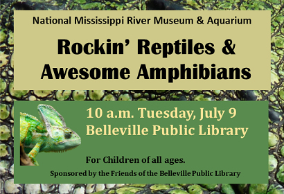 Rockin' Reptiles and Awesome Amphibians, 10 a.m. Tuesday, July 9, 2019