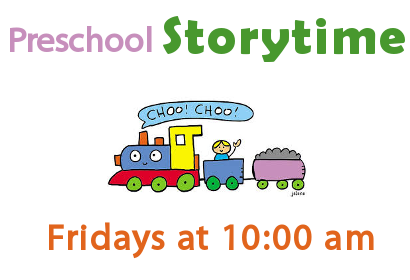 Storytime Fridays at 10:00 am