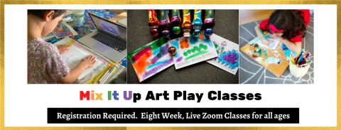 Mix It Up Art PlayJanuary 6- February 24, 2020, Registration Required
