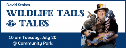 Wildlife Tails and Tales in Belleville Community Park shelter Tuesday, July 20, 2021 at 10 am