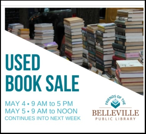 Used Book Sale starting May 4