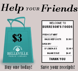 Help your Friends - buy a tote bag today, and save your Burreson's receipts