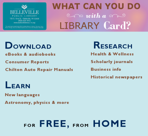 What can you do with a library card?