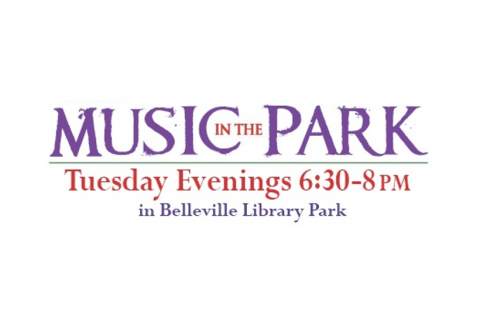 Music in the Park. Tuesday Evenings 6:30-8:00 pm in Belleville Library Park