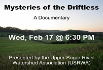 Watch a documentary about the Driftless Area Wednesday February 17th at 6:30 PM