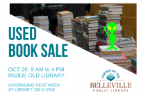 Used Book Sale, Saturday, October 26, 2019 from 9:00 am - 4:00 pm inside Old Library