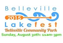 Belleville Lakefest 2015 Community Park Sunday August 30th 11am to 3pm