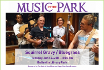 Squirrel Gravy MITP June 4, 2019 at 6:30 pm, Library Park