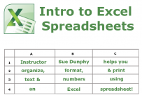 Intro to Excel Spreadsheets
