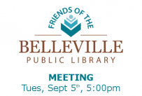Friends of the Belleville Public Library Meeting Tuesday, September 5th at 5:00 pm