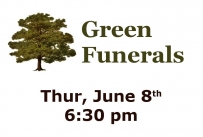Green Funerals - Thursday, June 8th at 6:30 pm at Belleville Public Library