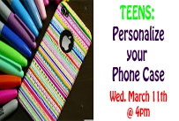 teens personalize your phone case