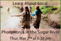 Learn About Local: Phosphorus in the Sugar River Thursday March 2nd at 6:30 pm