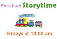 Preschool Storytime Fridays at 10:00 am