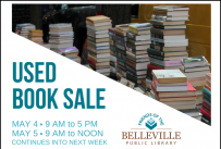 Used Book Sale Begins Friday, May 4, 9 AM
