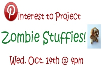 pinterest to project zombie stuffies wednesday october 14th at 4pm